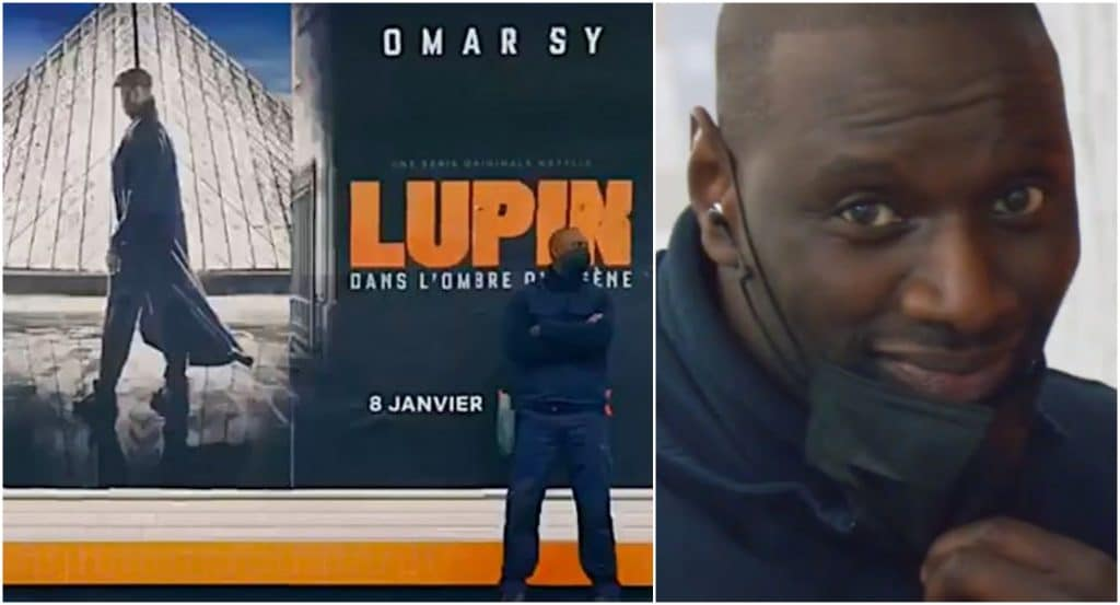 Lupin Omar Sy colle affiches promo Paris métro inconginito