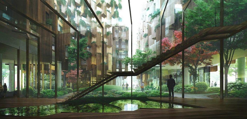Hôtel écolo-luxe Kengo Kumais Paris 2022 Aurore