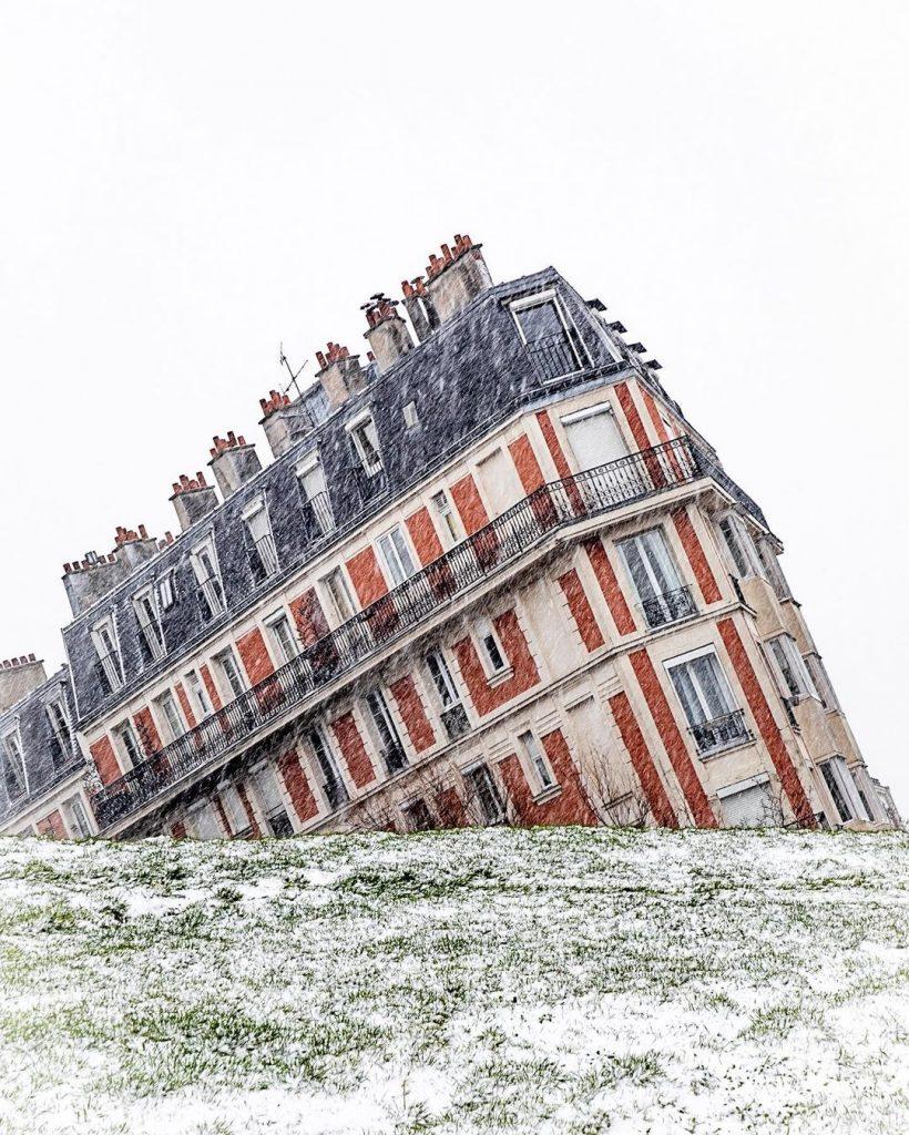 Plus belles photos neige Paris 16 janvier 2021