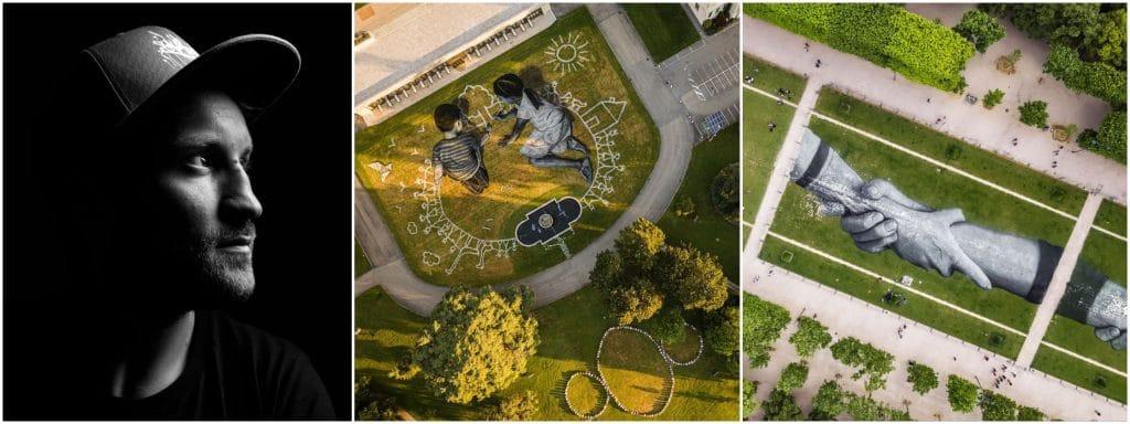 street art Beyond walls SAYPE plus grande chaîne humaine monde