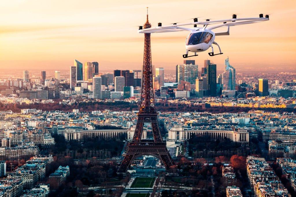 Premiers taxis volants Paris juin 2021 vol