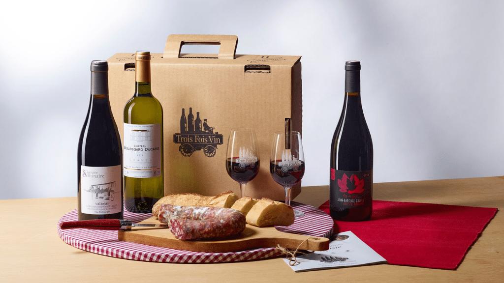 Trois fois Vin Box vin livrées chez vous