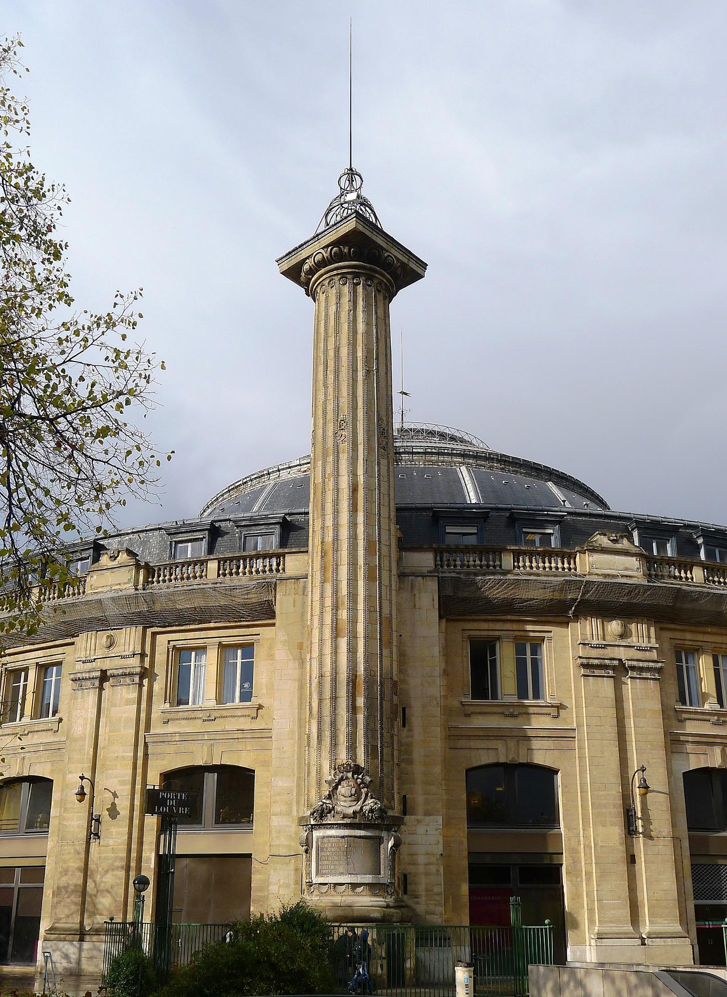 colonne médicis paris hotel de la reine bourse du commerce