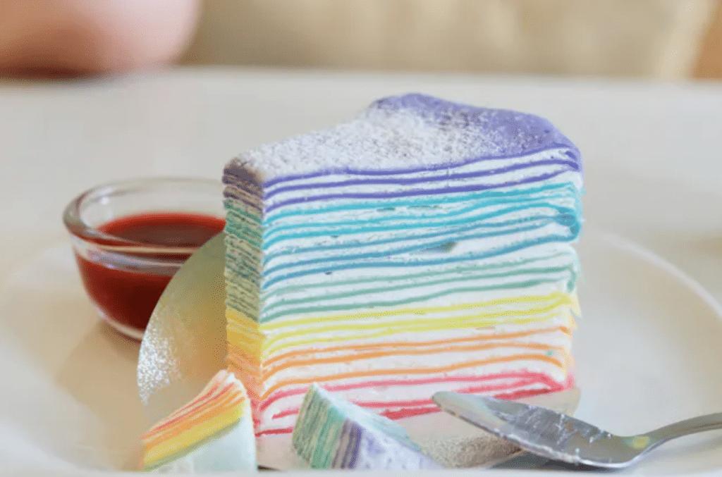 Chandeleur 2021 recette gâteau de crêpes arc-en-ciel