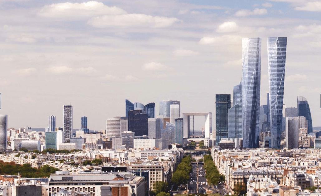 projet hermitage tours jumelles paris la défense gratte ciel building architecture illu 2