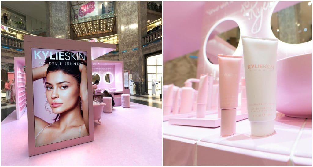 Paris Pop-up store 2021 Kylie Jenner salle de bains Galeries Lafayette Champs Elysées