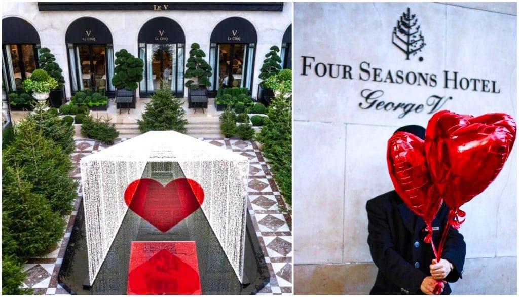 Paris Pop-up store gourmand Saint-Valentin 2021 Hôtel Four Seasons George V