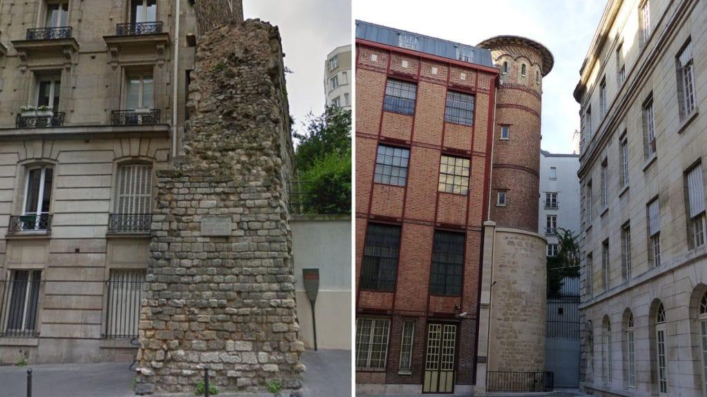 Histoire : Les vestiges visibles de l'enceinte Philippe Auguste à Paris !