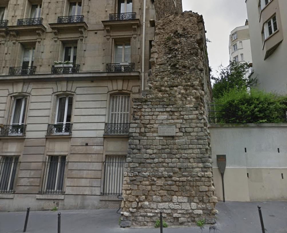 enceinte philippe auguste paris rue clovis vestige histoire archéologie