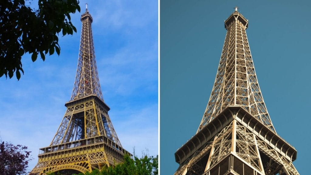 tour eiffel dorée rénovation paris or couleur dame de fer rénovation peinture jeux olympiques jo 2024 paris