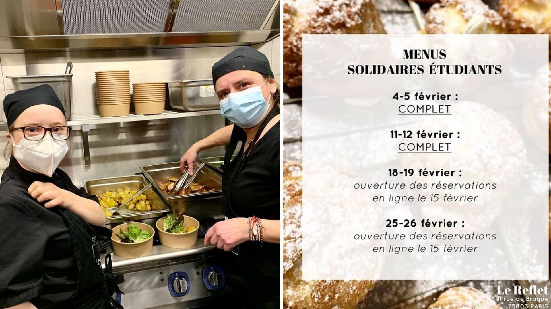 le reflet restaurant solidaire paris étudiant repas