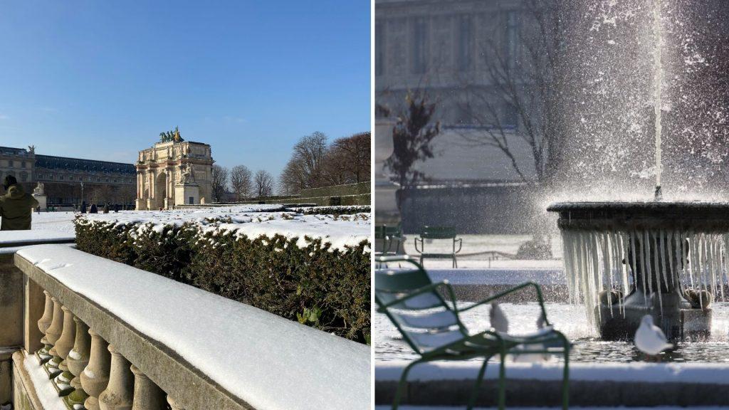 neige paris grand froid février 2021 hiver images