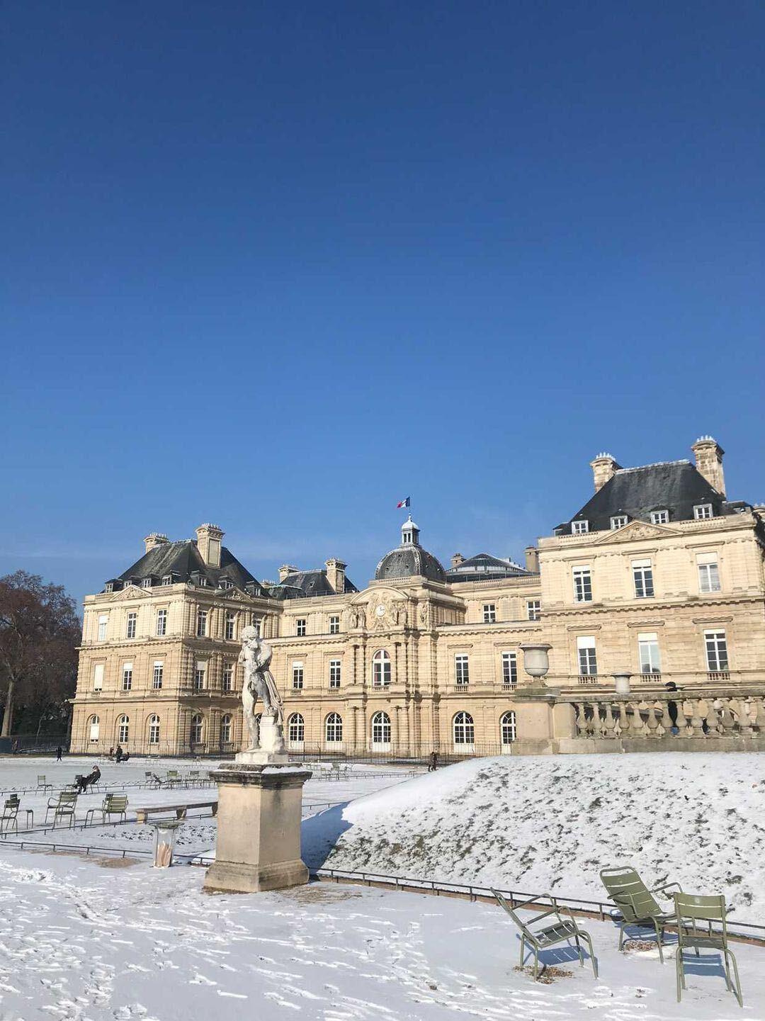 neige paris parce février hiver