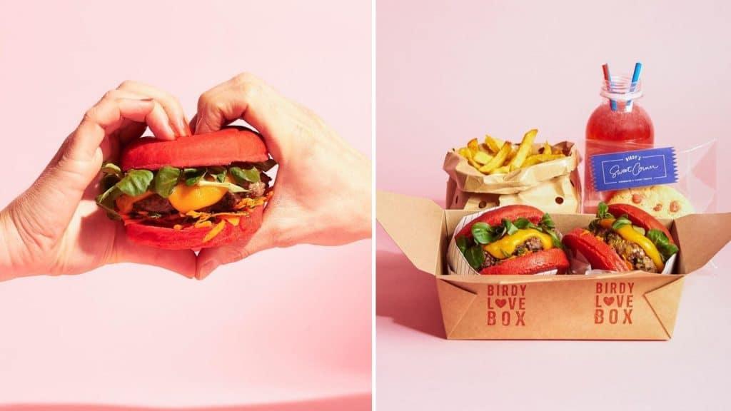 birdy hamburger saint valentin livraison février 2021 repas à partager