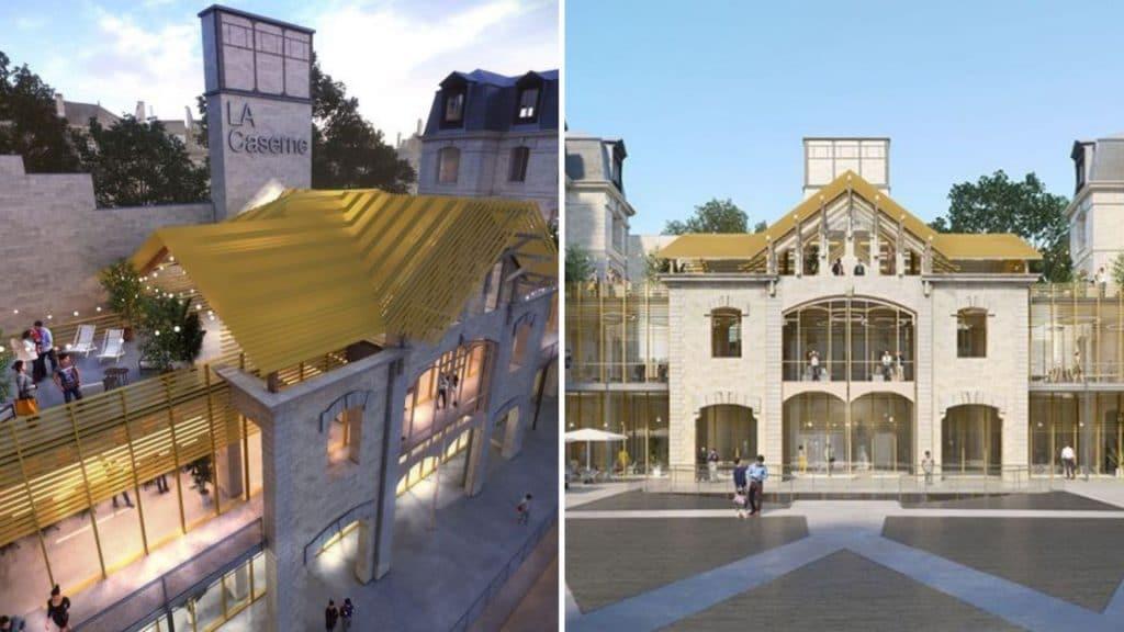 discothèque caserne chateau landon paris 10ème arrondissement rénovation projet mode