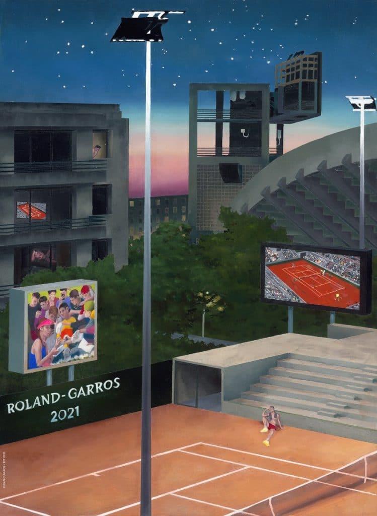 tennis - 2021 - Affiche - tournoi - roland-garros - covid - match - fenêtre - court
