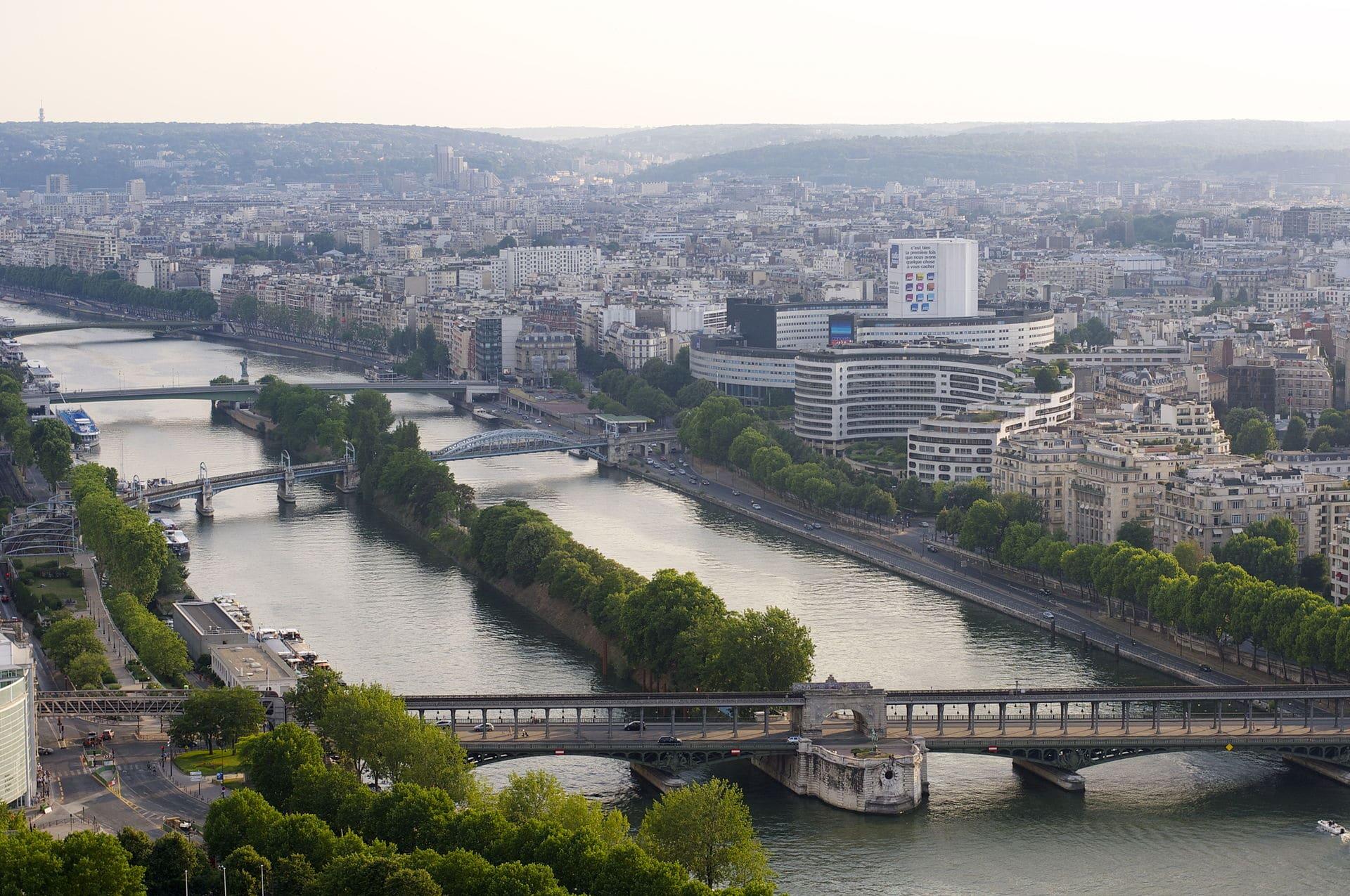 Île_aux_Cygnes,_Paris histoire seine