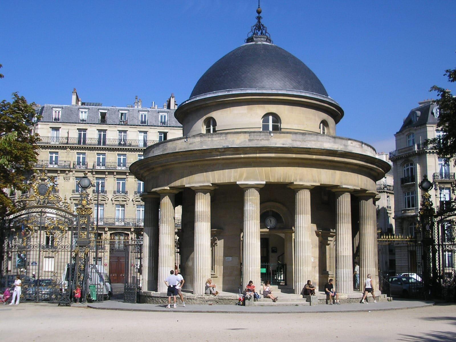 rotonde parc monceau paris porte barrières histoire