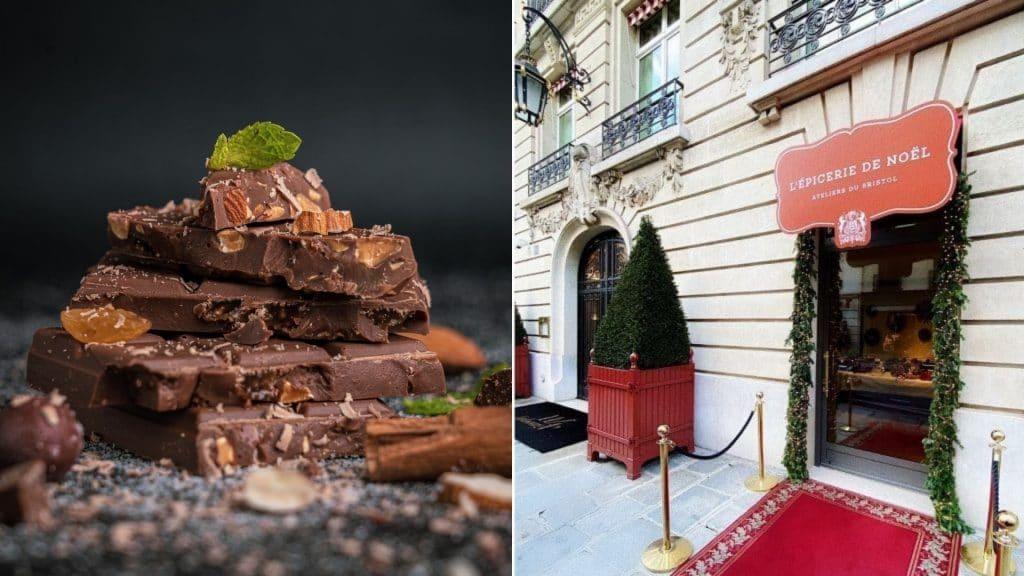 bristol paris boutique de noël éphémère paris gourmand magie pâques chocolat paris 2021