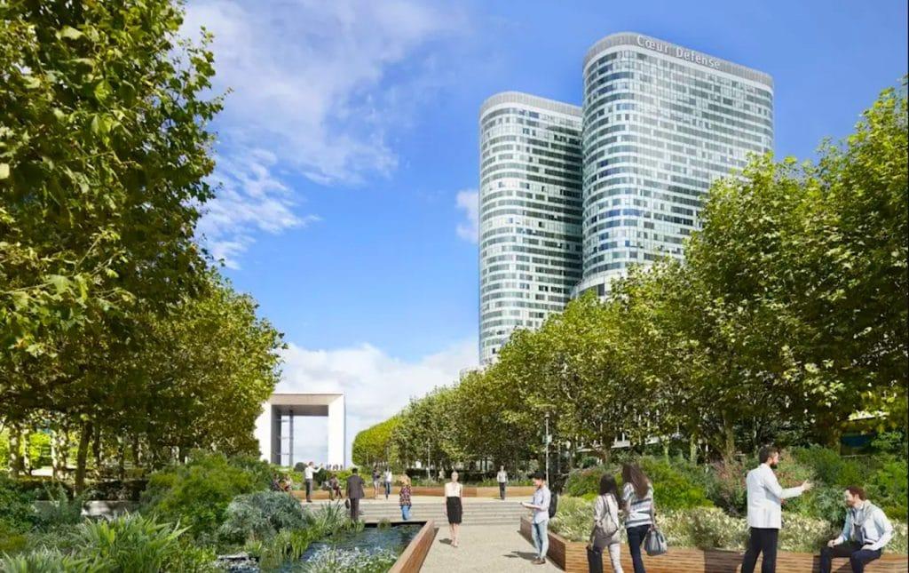Esplanade de la Défense Parc urbain 7 hectares