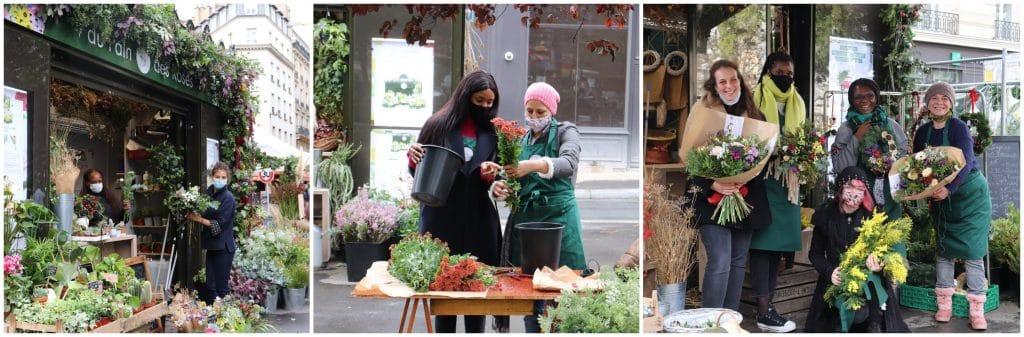 Paris extraordinaire Kiosque à fleurs écolo & solidaire portes ouvertes 8 mars 2021 journée femmes