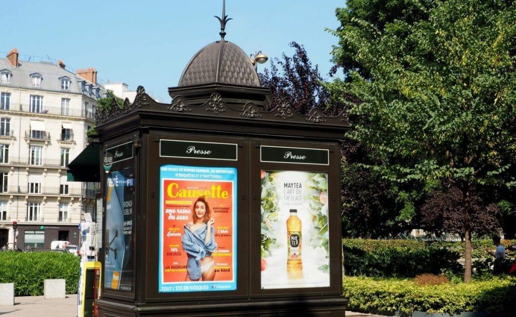 colonne morris - paris - fontaine wallace - mobilier urbain - histoire - boite à sable - visite