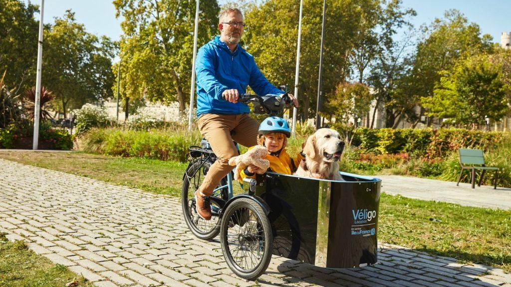 véligo triporteur paris vélo électrique location charge transport