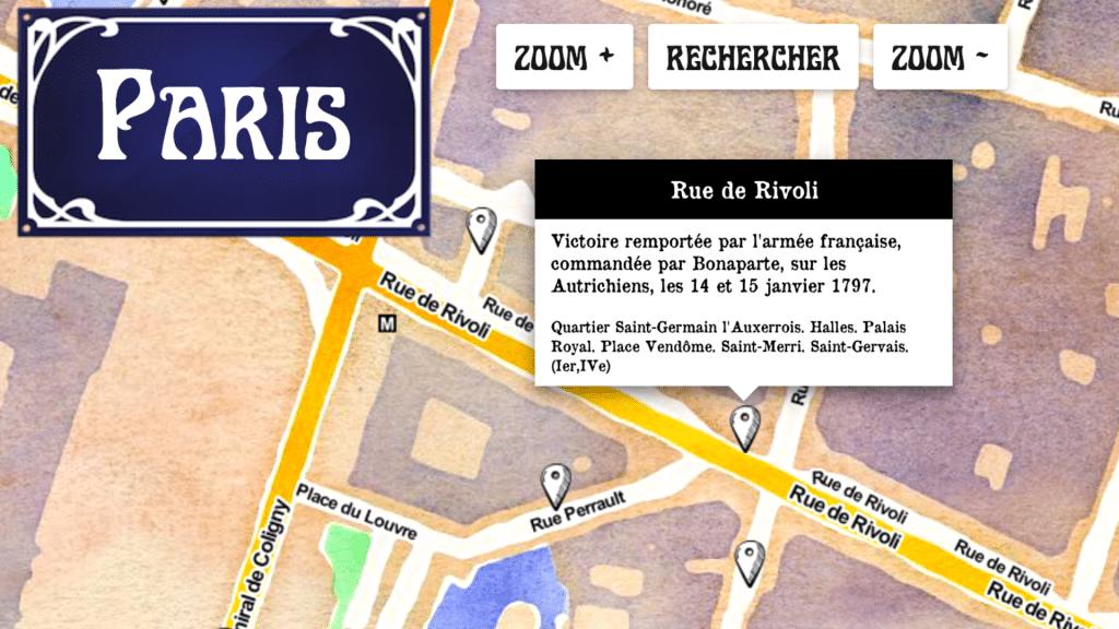 Paristique carte interactive histoire des noms de toutes les rues de Paris