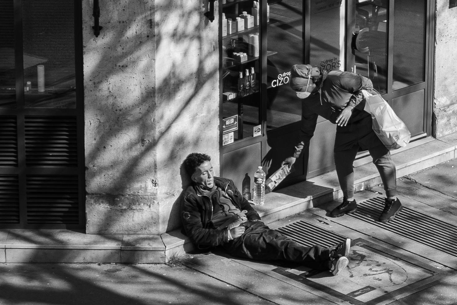 Philippe Enquin livre de mon balcon photographies paris noir et blanc confinement