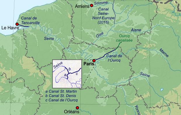 Canaux_France_Nord paris histoire