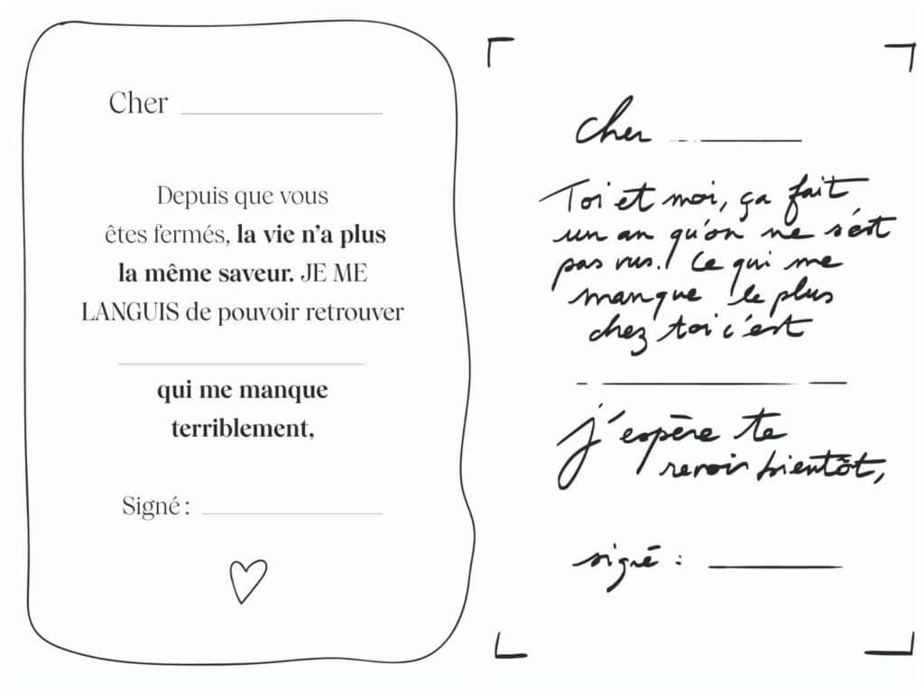 Billets doux My Little Paris mots d'amour coller vitrines cafés bars restaurants fermés à Paris