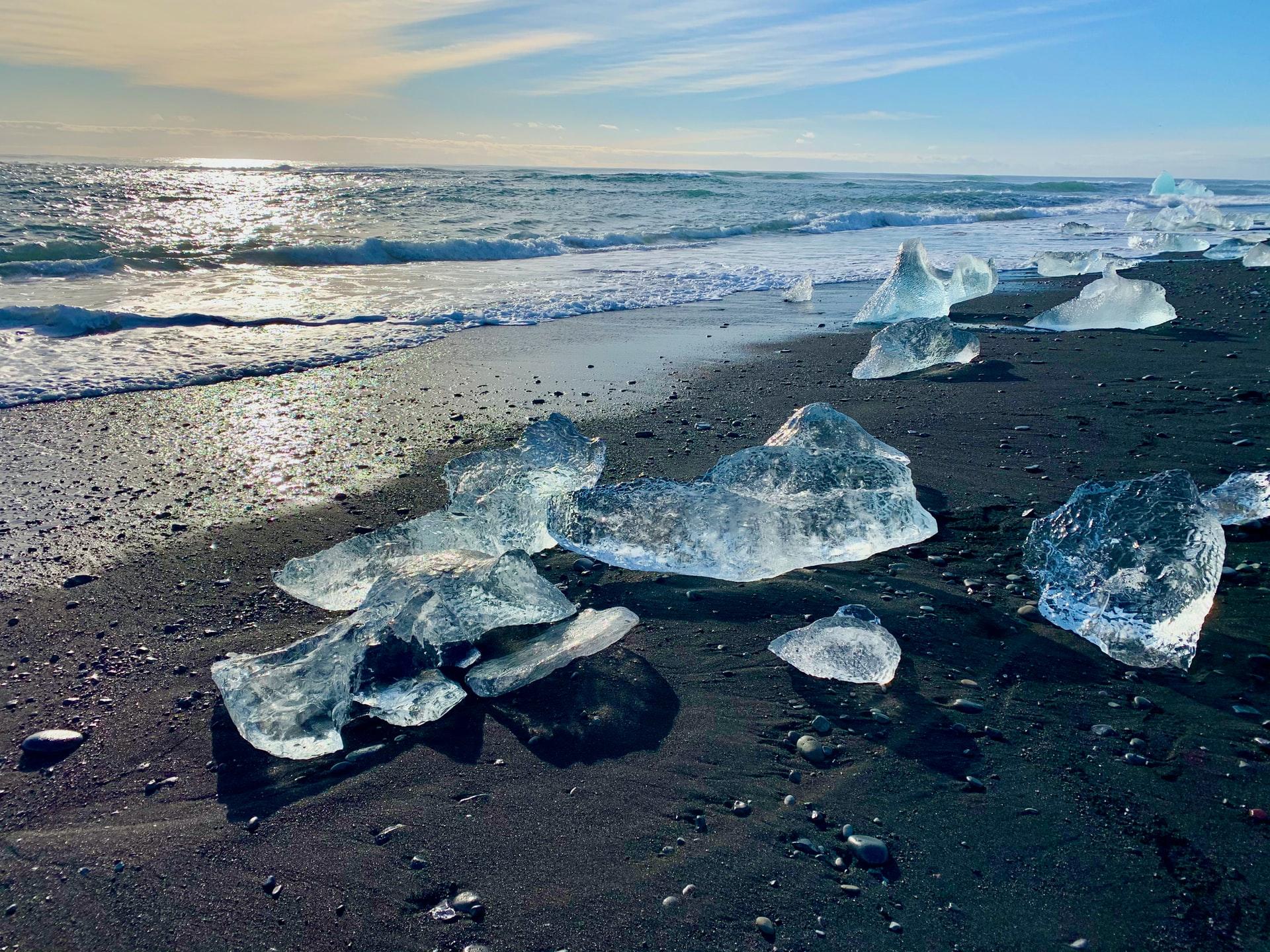 diamond beach islande plage de glace