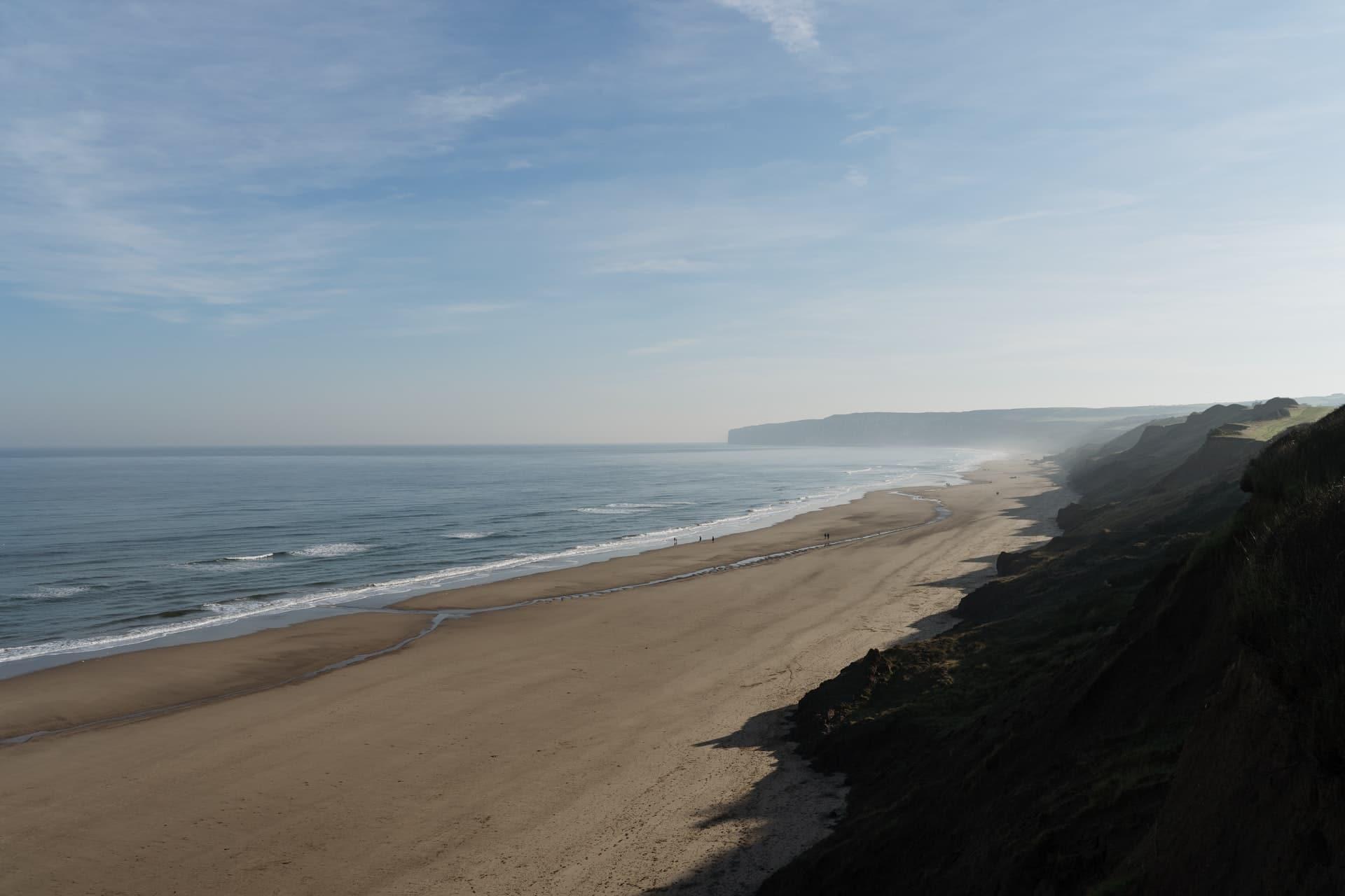 filey beach filey royaume uni uk angleterre