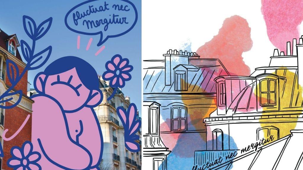 mika redonne des couleurs à la ville de paris affiches colorées art