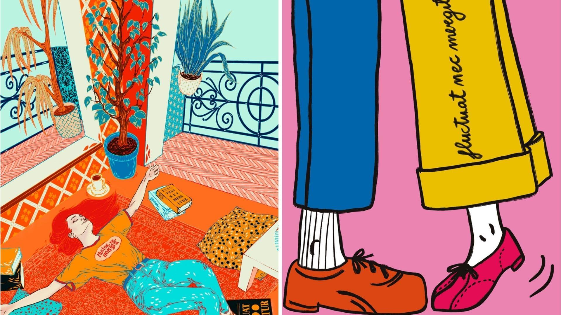 affiches colorées paris mika étudiants art epsaa ville