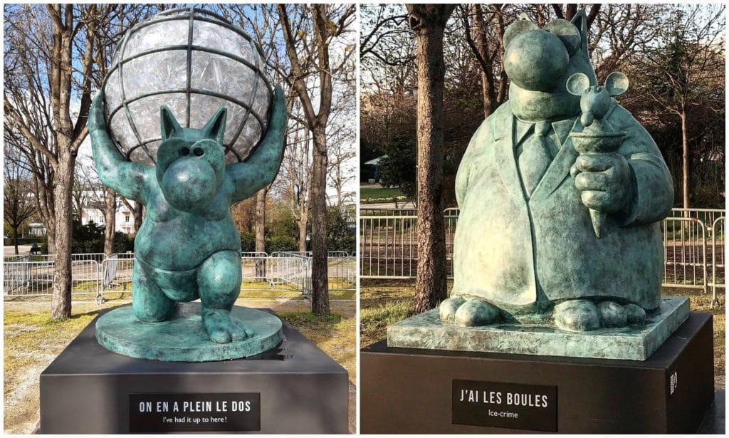 Les 20 sculptures monumentales du Chat de Philippe Geluck sont arrivées sur  les Champs-Elysées ! - Paris Secret