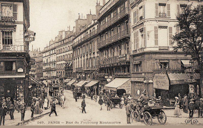 faubourg montmartre baudelaire paris histoire