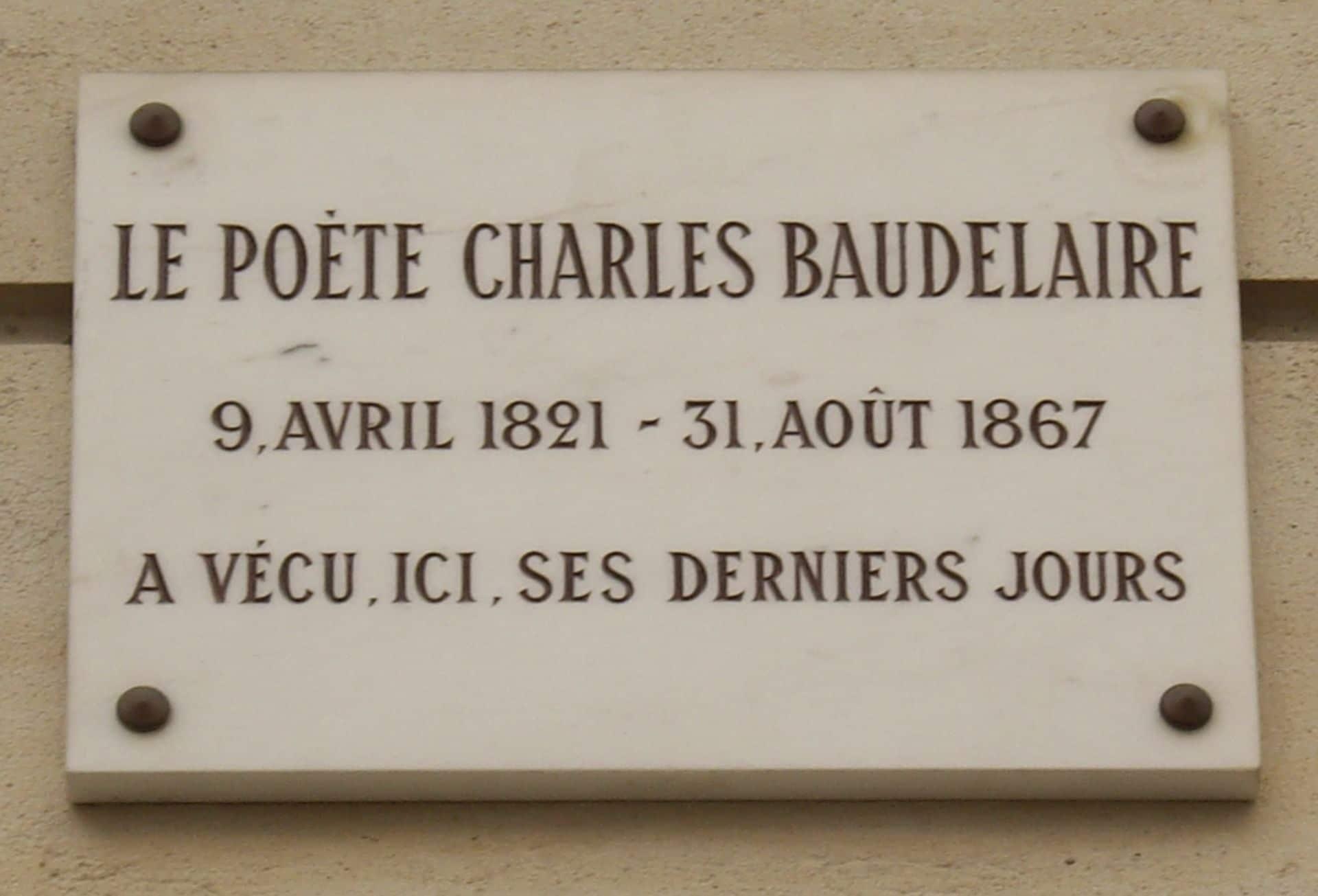 Plaque_Charles_Baudelaire,_1_rue_du_Dôme,_Paris_16