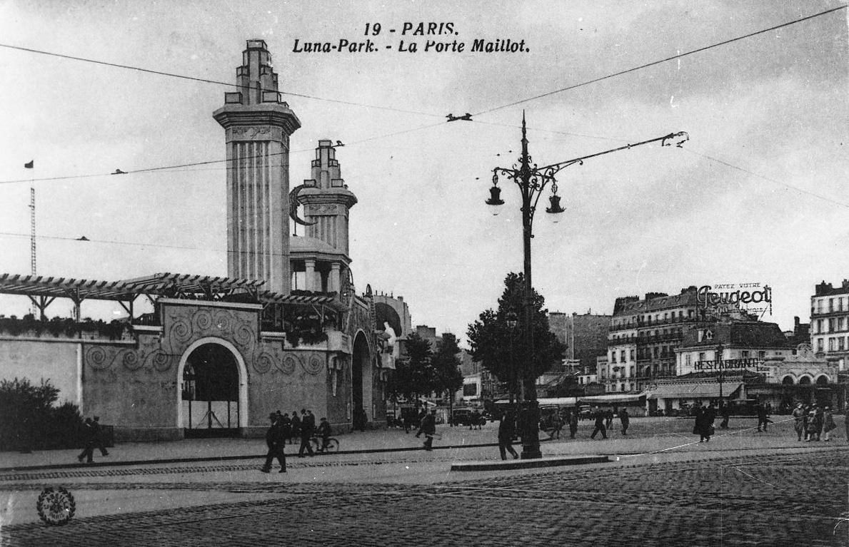 luna park porte maillot parc d'attractions paris 1909 lieux disparus
