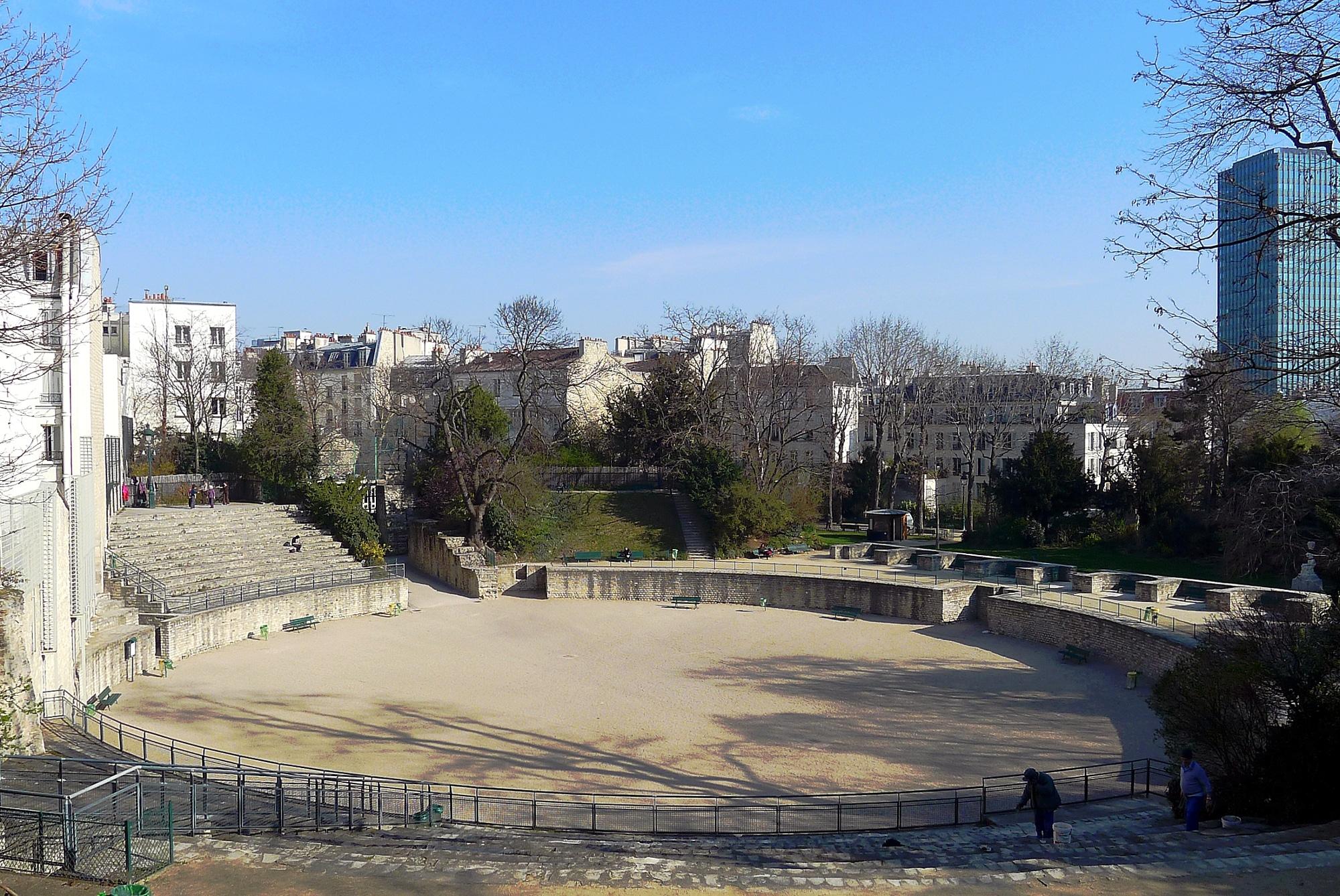 arenes de lutèce histoire paris vestiges ruines gallo romaines bancs parc