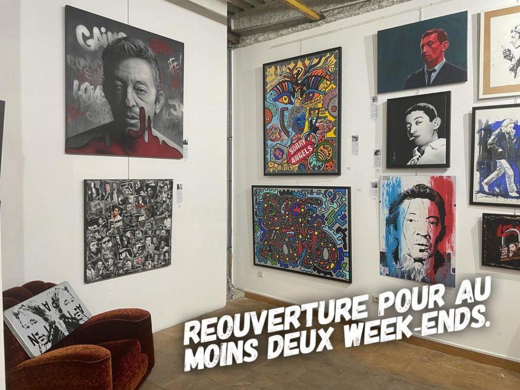 Expo gratuite Gainsbourg Paris mai 2021