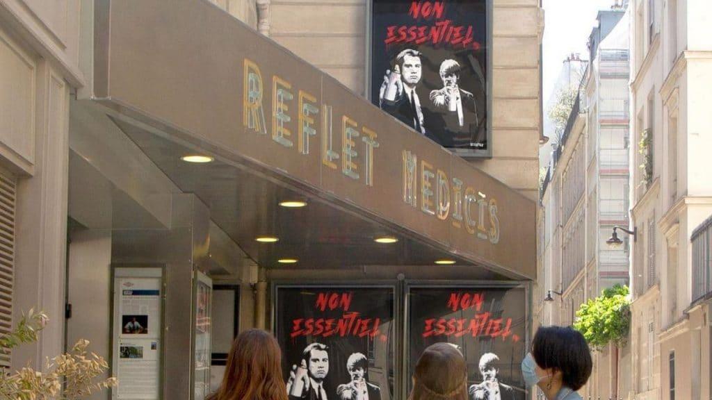cinémas street art fermeture newsfromtoolate toolate paris art culture covid confinement