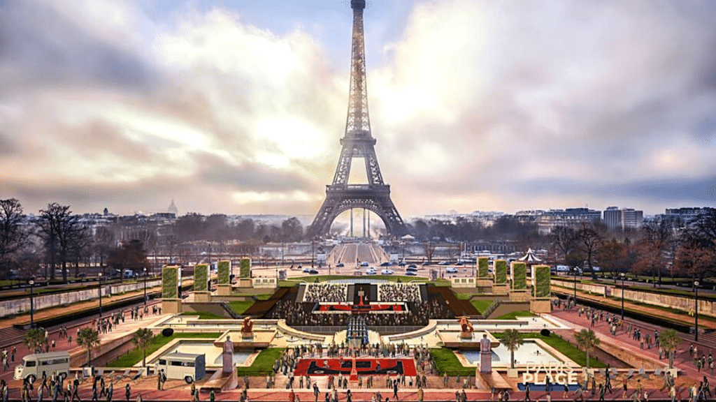 Fontaines Trocadéro été 2021 Paris Plages Jeux Olympiques