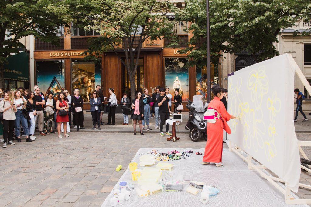 Paris Festival Saint-Germain 20 ans plein-air art urbain JR