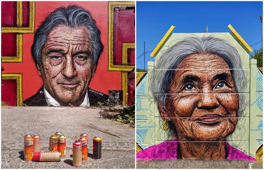 Street art Paris art urbain portraits RAST
