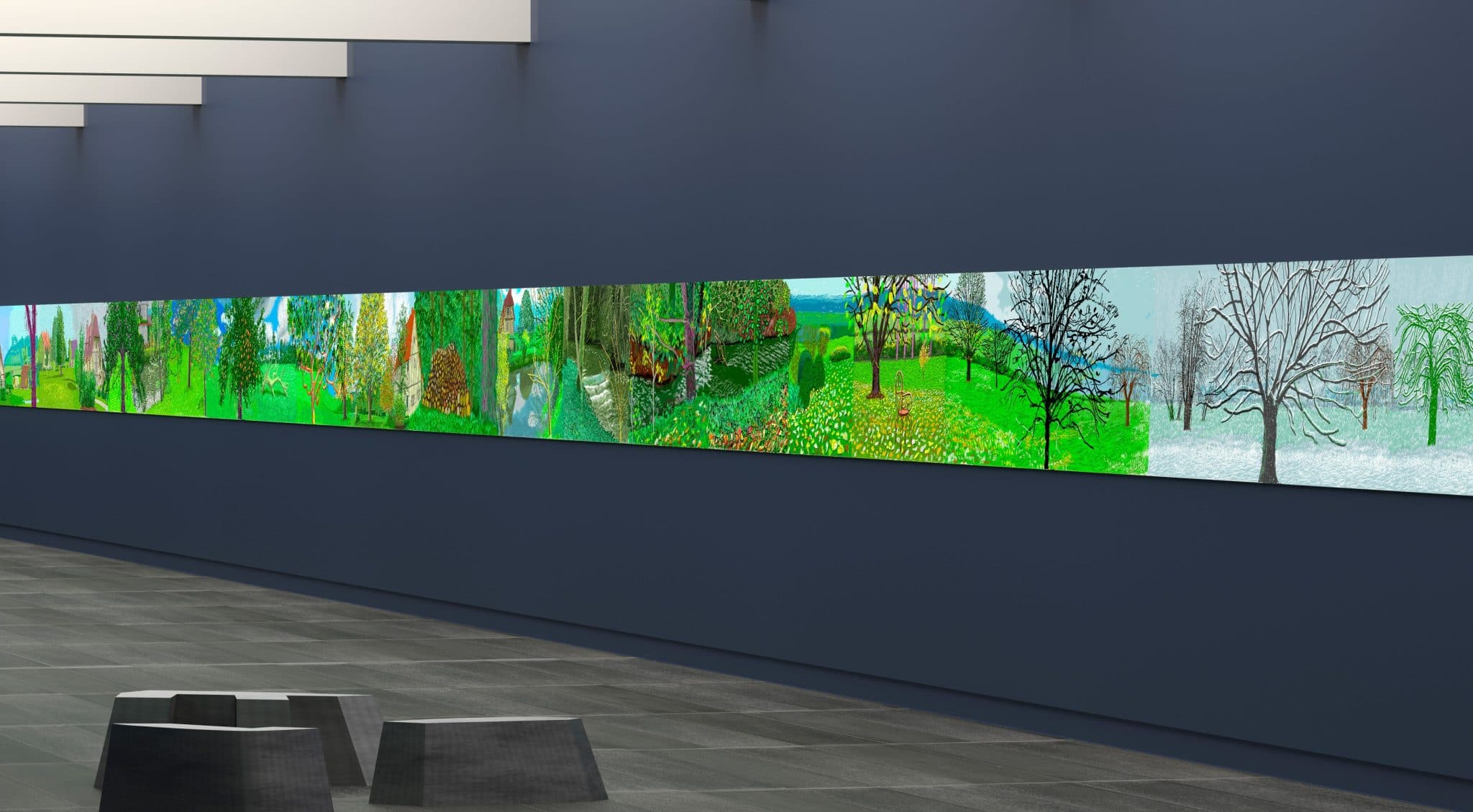 david hockney paris musée orangerie exposition normandie peinture