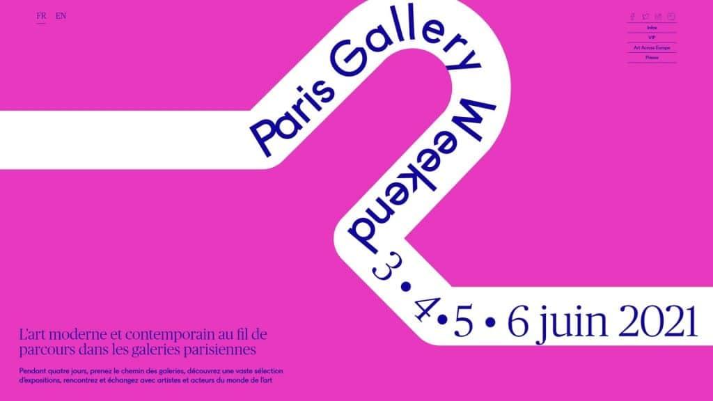 paris gallery weekend 2021 art culture galeries visite juin été réouverture exposition