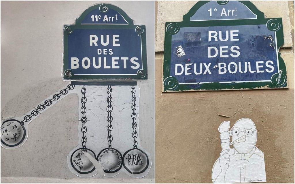 Noms de rues insolites Paris