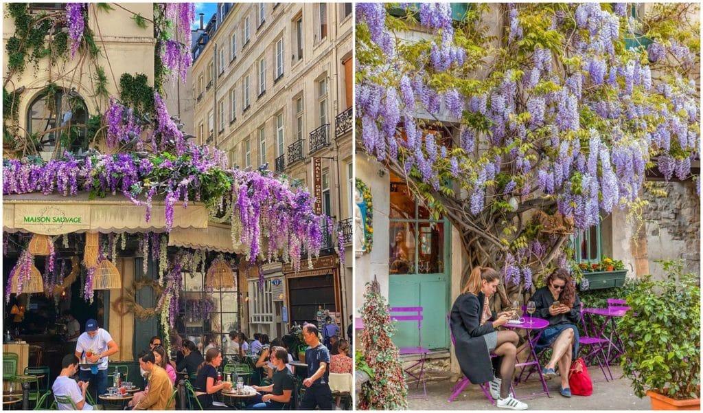 Les terrasses de bars & restaurants les plus fleuries de Paris !