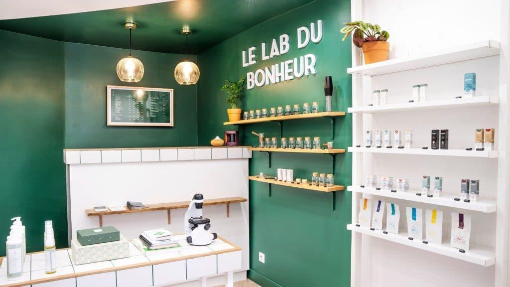 la lab du bonheur paris boutique cbd cannabidiol nature produits